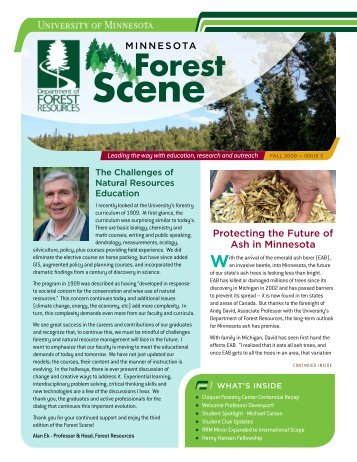 Stay ConneCted! Get Involved! - Department of Forest Resources ...