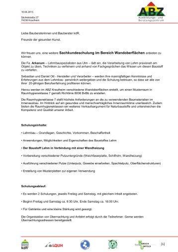 Nähere Infos - Bundesverband Bauberater kdR