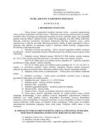 """Mokyklos nuostatai - Telšių """"Kranto"""" pagrindinė mokykla"""