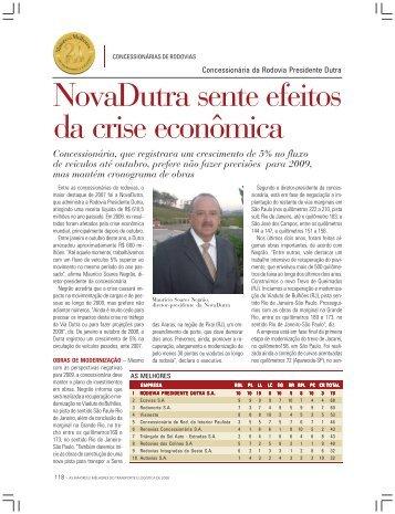 NovaDutra sente efeitos da crise econômica - Transporte Moderno