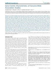 Gene-Centric Characteristics of Genome-Wide Association Studies