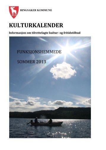 Kulturkalender for funksjonshemmede sommer 2013 - Ringsaker ...
