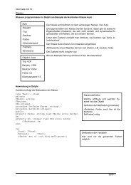 Informatik GK 12 Klassen Seite 1 Klassen programmieren ... - Freidling