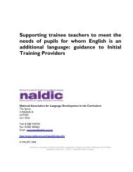 EAL and Initial Teacher Training: Guidance for Providers - NALDIC