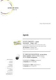 Rundbrief November 2009 - Cantina del Mulino