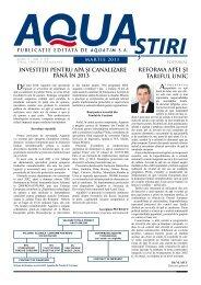 AQUA Ştiri nr. 3 (19) / martie 2011 - Aquatim