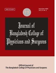 journal of bangladesh college of physicians and surgeons - bcps