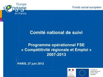 Le Village des Initiatives FSE 2012 - Fonds Social Européen en ...