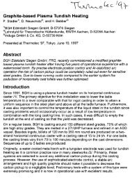 Graphite-based Plasma Tundish Heating - Bebbcon