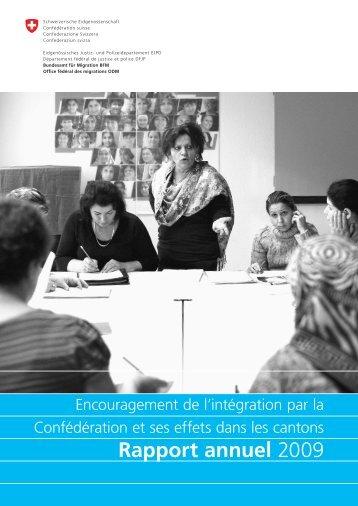 Rapport annuel 2009 - Bundesamt für Migration - admin.ch