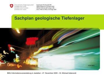 Sachplan geologische Tiefenlager - ESchT