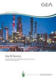 Slop Oil Recovery pdf, 404.8 KB - GEA Westfalia Separator
