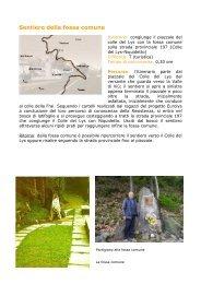 Sentiero fossa comune - Comitato Resistenza Colle del Lys