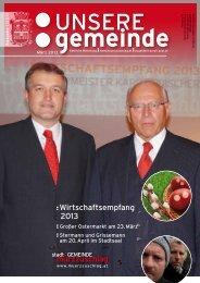 Wirtschaftsempfang 2013 - Stadtgemeinde Mürzzuschlag