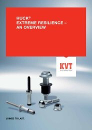 HUCK ® Product-Overview - KVT-Fastening GmbH