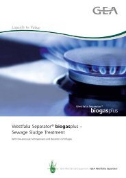 GEA Westfalia Separator® biogasplus – Sewage sludge treatment ...