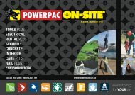 tools plus electrical rental plus security concrete interior