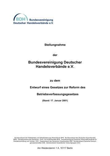 Bundesvereinigung Deutscher Handelsverbände e.V. - CDH
