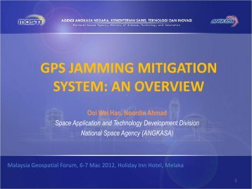 GPS JAMMING MITIGATION SYSTEM: AN OVERVIEW - Malaysia Geospatial ...