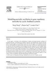Modelling periodic oscillation in gene regulatory networks by cyclic ...