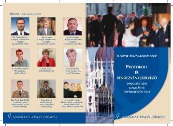 protokoll és rendezvényszervezõ - Kodolányi János Főiskola