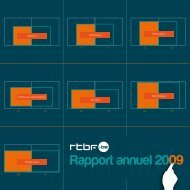 Rapport annuel 2009 - Rtbf