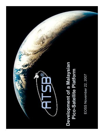 S atellite P latfo rm - Seminar.utmspace.utm.my