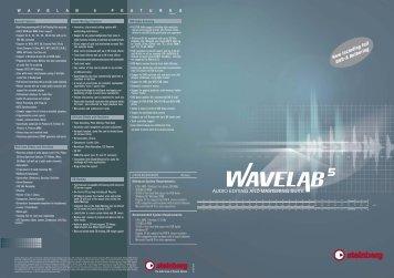 Wavelab 5 Brochure (Englisch) - zZounds.com