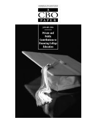 040123 cbo education.. - The Gateway to the US Labor Market