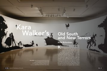 Old South and New Terrors - Nka Journal of Contemporary African Art