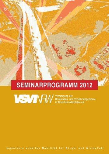 SEMINARPROGRAMM 2012 - VSVI-NRW