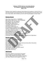 Minutes of PSTIF Advisory Committee Meeting Via Telephone ...