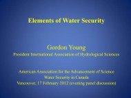Prof. Gordon Young - Program on Water Governance