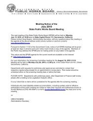 July 12, 2010 10-Day Notice - State Public Works Board