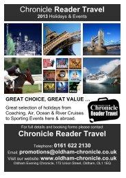 Chronicle Reader Travel Chronicle Reader Travel - Oldham Chronicle