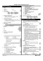 interRAI Contact Assessment (CA) ©