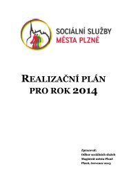 Realizační plán 2014 - Sociální služby města PLZNĚ - Město Plzeň