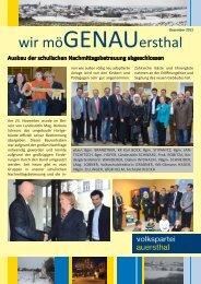 wir möGENAUersthal - Auersthaler - Volkspartei Niederösterreich