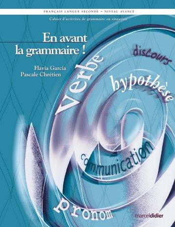En avant la grammaire - Les Éditions Marcel Didier