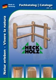 Technische Daten • Dati tecnici - Heck-Holz