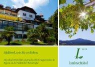 Südtirol, wie Sie es lieben. - Hotel Lambrechtshof