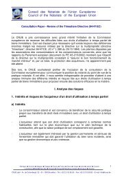 Conseil des Notariats de l'Union Européenne Council of the ... - CNUE