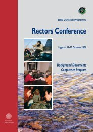 Conference booklet - Baltic University Programme