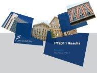 FY2011 Results - Beni Stabili