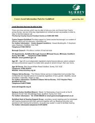 Carers Local Information Pack for Guildford - home
