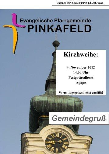 Gottesdienste - evang.Pinkafeld