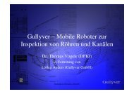 Gullyver – Mobile Roboter zur Inspektion von Röhren und Kanälen