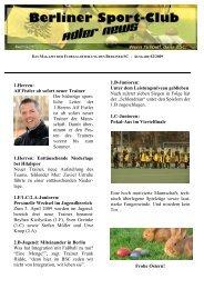 Newsletter 02-April-2009 - Berliner SC