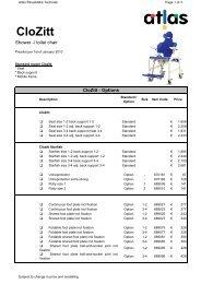 Pricelist 2010 - Atlas - Rehab