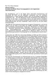 Prof. Dr.sc Klaus Schirmer Weichenstellung Zu ... - AGGI-INFO.DE